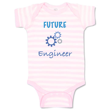 Cotton Boy & Girl Baby Bodysuit Future Engineer Profession Funny