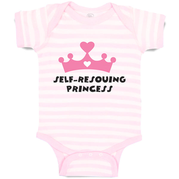 Cotton Baby Girl Bodysuit Self - Rescuing Princess Funny Clothes