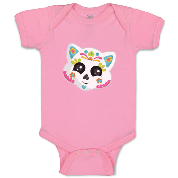 Boy & Girl Baby Bodysuit Cat Sugar Skull Holidays Occasions Halloween