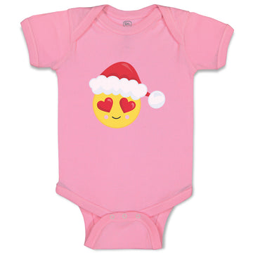 Boy & Girl Baby Bodysuit Christmas Face Fall in Love Funny Clothes