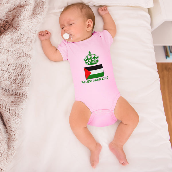 Baby Boy Bodysuit Palestinian King Crown Countries Funny Clothes