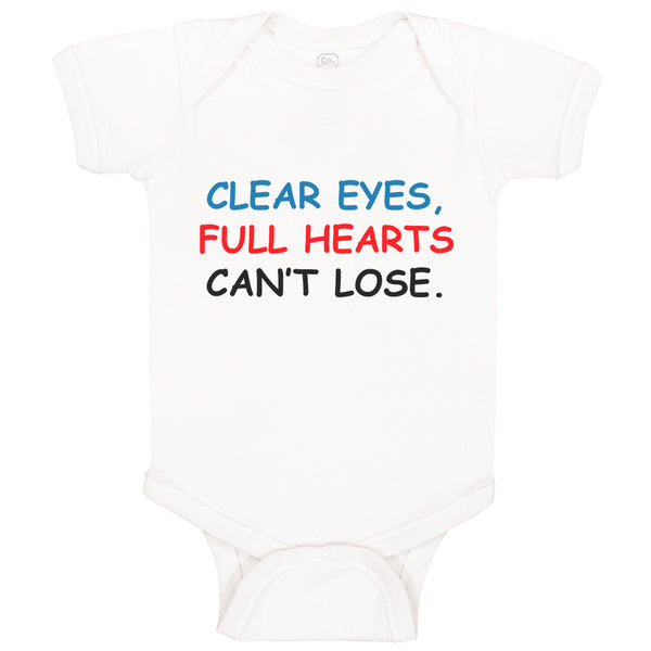 Boy & Girl Baby Bodysuit Clear Eyes, Hearts Can'T Lose. Funny Humor