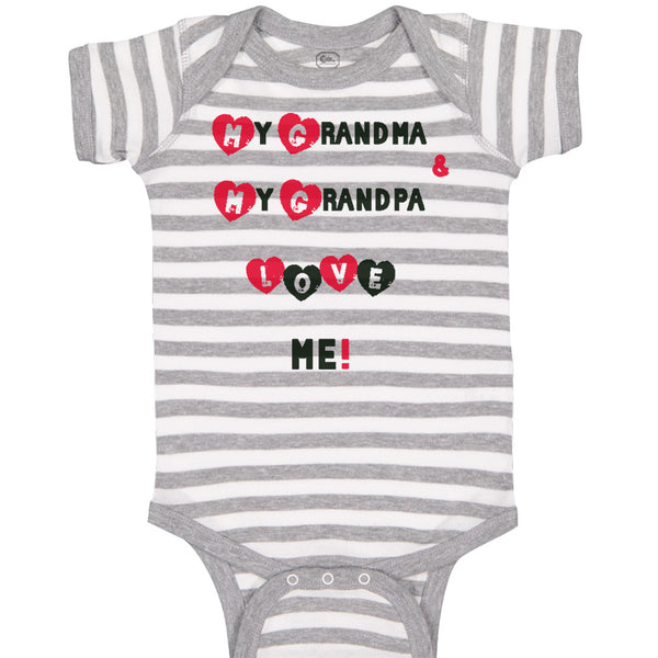 Boy & Girl Baby Bodysuit My Grandma and Grandpa Love Me! Grandparents