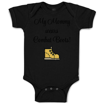 Baby Clothes My Mommy Wears Combat Boots! Mom Mothers Day Baby Bodysuits Cotton