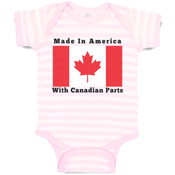 Boy & Girl Baby Bodysuit Made in America with Canadian Parts Style B