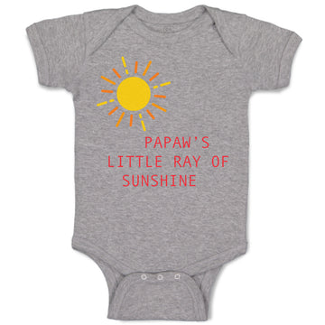 Boy & Girl Baby Bodysuit Papaw's Ray Sunshine Grandpa Grandfather