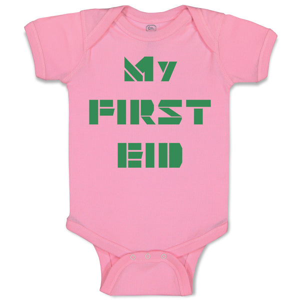 Baby Clothes My First Eid Arabic Arab Baby Bodysuits Boy & Girl Cotton