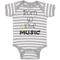 Baby Clothes Born to Love Music Baby Bodysuits Boy & Girl Newborn Clothes Cotton