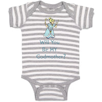 Baby Clothes Will You Be My Godmother Pregnancy Baby Announcement D Cotton