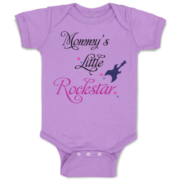Baby Clothes Mommy's Little Rockstar Mom Mothers Day Baby Bodysuits Cotton
