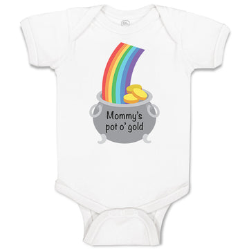 Cotton Boy & Girl Baby Bodysuit Mommy's Pot Gold Mom Mothers Day Funny