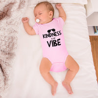 Boy & Girl Baby Bodysuit Kindness Is My Vibe Funny Humor Clothes
