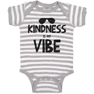 Baby Clothes Kindness Is My Vibe Funny Humor Baby Bodysuits Boy & Girl Cotton