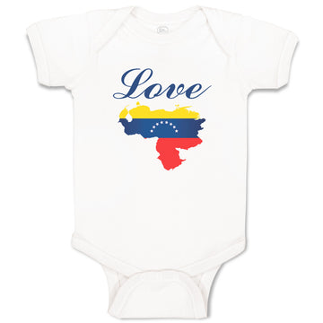 Boy & Girl Baby Bodysuit Love Venezuela A Countries Funny Clothes