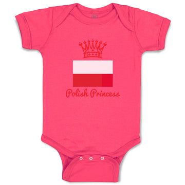 Baby Clothes Polish Princess Crown Countries Princess Baby Bodysuits Cotton