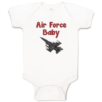Cotton Boy & Girl Baby Bodysuit Air Force Military Funny Clothes