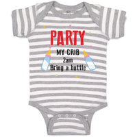 Boy & Girl Baby Bodysuit My Crib 2Am Bring Bottle Funny Humor Gag