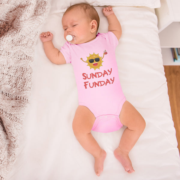 Boy & Girl Baby Bodysuit Sunday Funday Funny Humor Clothes