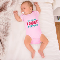 Boy & Girl Baby Bodysuit Excuse Me I Just Burped Funny Humor