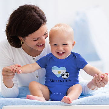 Boy & Girl Baby Bodysuit Argentinian Soccer Argentina Football Funny