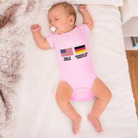 Boy & Girl Baby Bodysuit Made America - Engineered with German Parts