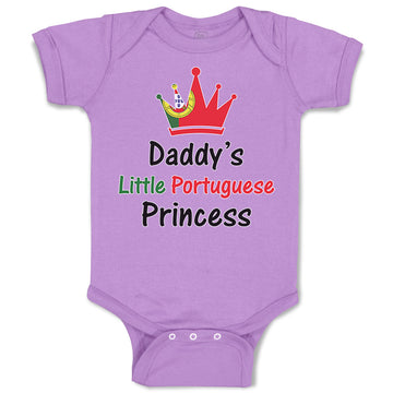 Baby Clothes Daddy's Little Portuguese Princess Baby Bodysuits Boy & Girl Cotton