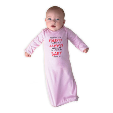Baby Sleeper Gowns Love You Forever Living Baby You'Ll Be Valentines Love Cotton