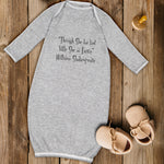 "Baby Sleeper Gowns ""Though She Be but Little She Fierce"" Ws Funny Humor Cotton - Cute Rascals"