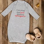 Baby Sleeper Gowns I Am Proof That God Answers Prayers Jewish Baby Nightgowns - Cute Rascals