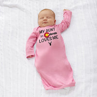 Baby Sleeper Gowns My Aunt in Colorado Loves Me Valentines Love Baby Nightgowns - Cute Rascals
