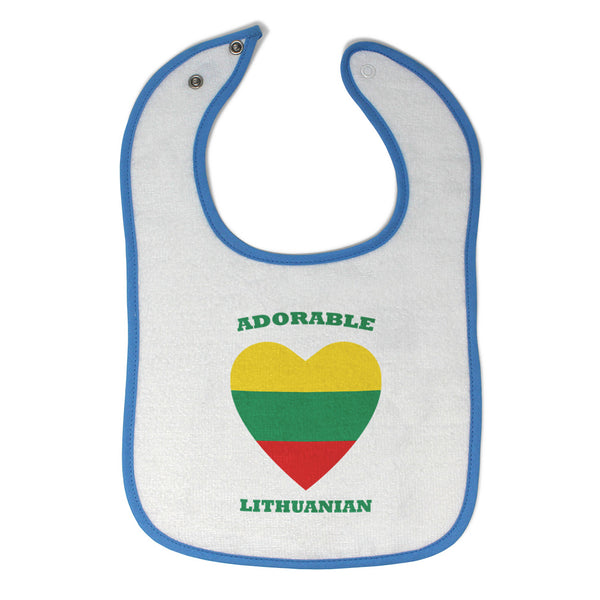 Cotton Toddler & Baby Bibs Adorable Lithuanian Heart Countries