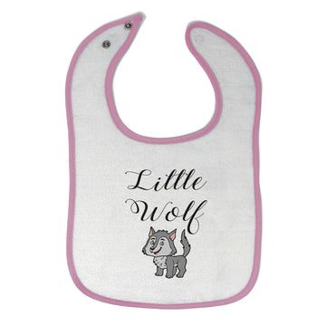 Cloth Bibs for Babies Little Wolf Funny Humor Baby Accessories Cotton