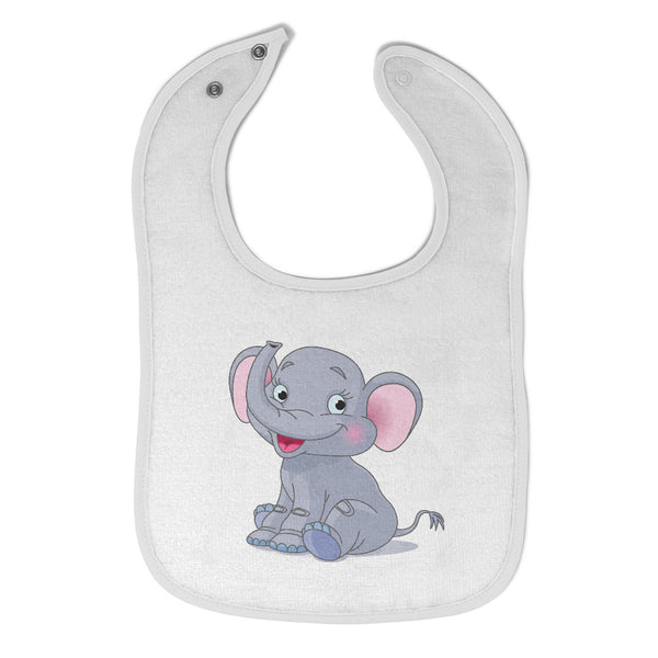Cotton Toddler & Baby Bibs Elephant Smiling Items for Girl Boy