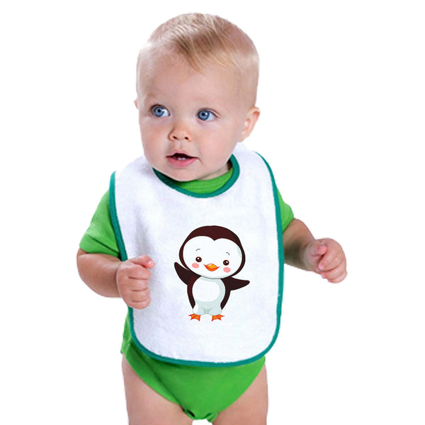 Cotton Toddler & Baby Bibs Penguin Greeting Ocean Sea Life