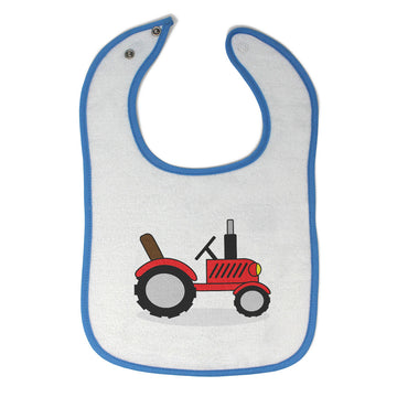 Toddler & Baby Bibs Tractor Red Open Roof Car Auto Items for Girl Boy