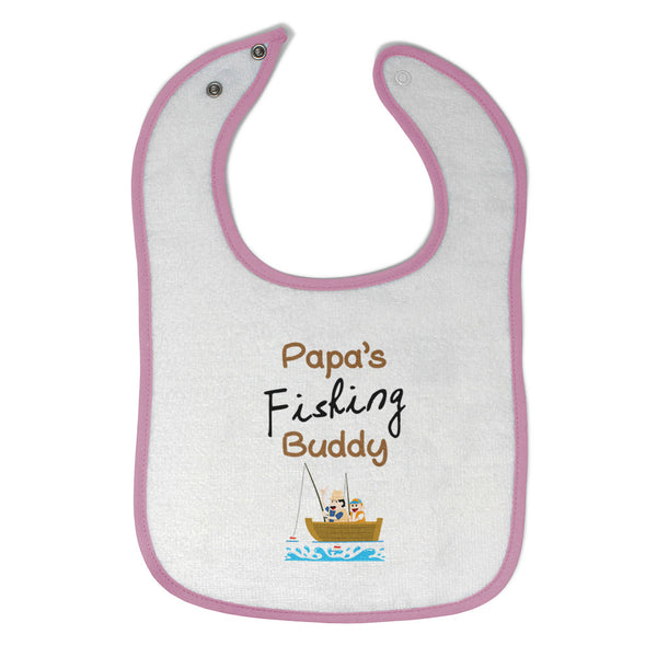 Cotton Toddler & Baby Bibs Papa's Fishing Buddy Dad Father's Day