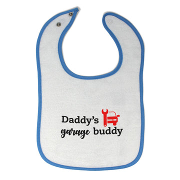 Cloth Bibs for Babies Daddy's Garage Buddy Mechanic Dad Father's Day Cotton