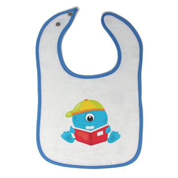 Toddler & Baby Bibs Student Monster Blue Characters Items for Girl Boy