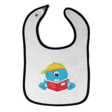 Cloth Bibs for Babies Student Monster Blue Characters Monsters Baby Accessories