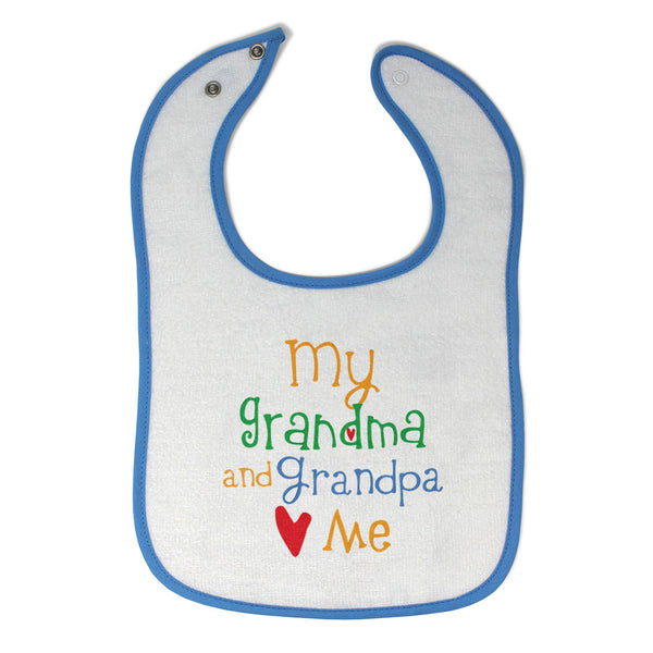Toddler & Baby Bibs My Grandpa and Grandma Loves Me Grandparents