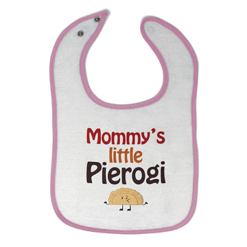Cotton Toddler & Baby Bibs Mommy's Little Pierogi Polish Funny Humor
