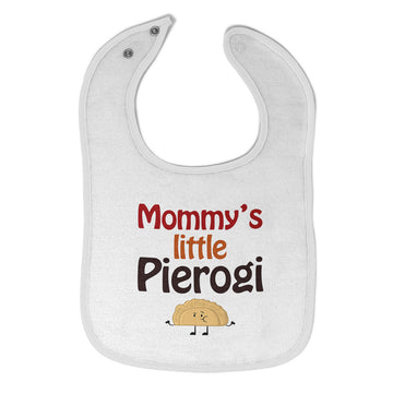 Cloth Bibs for Babies Mommy's Little Pierogi Polish Funny Humor Baby Accessories