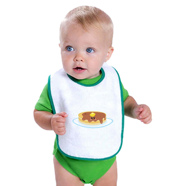Toddler & Baby Bibs Pancakes Food and Beverages Items for Girl Boy