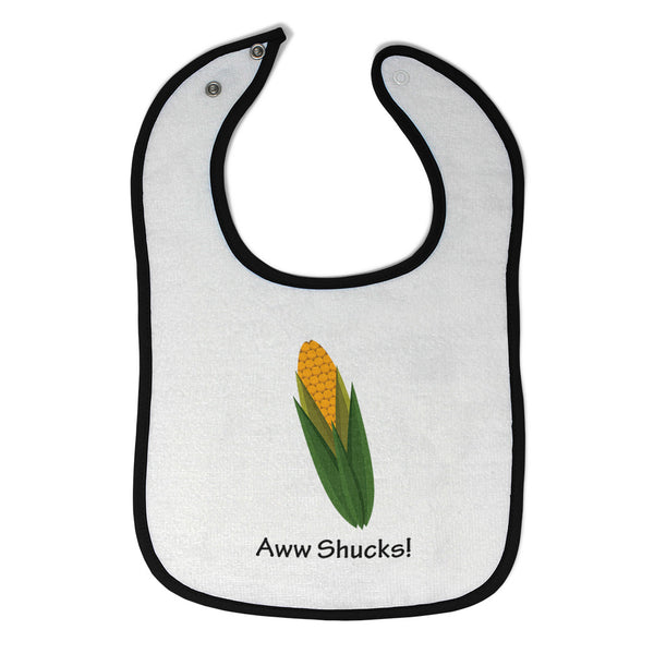 Cloth Bibs for Babies Aww Shucks! Corn on The Cob Funny Humor Baby Accessories - Cute Rascals