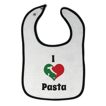 Toddler & Baby Bibs I Love Pasta Italia Map Food Beverage Others