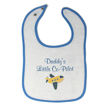 Toddler & Baby Bibs Daddy's Little Co-Pilot Dad Father's Day Western