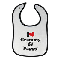 Cotton Toddler & Baby Bibs I Love My Grammy and Pappy Grandparents