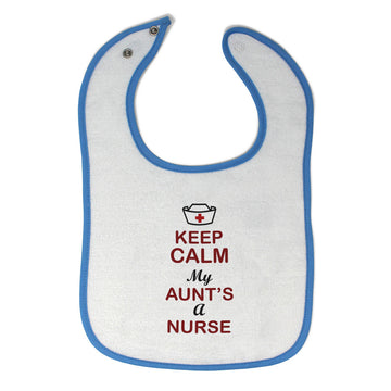 Cloth Bibs for Babies Keep Calm My Aunt Is A Nurse Baby Accessories Cotton