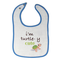 Toddler & Baby Bibs I'M Turtle Y Cute Animals Woodland Wsp, Wlb, Wb, W