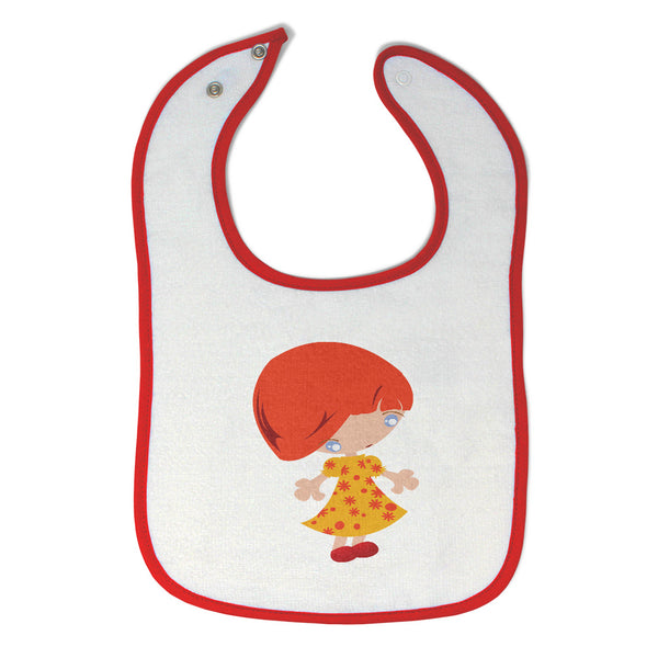Cotton Toddler & Baby Girl Bibs in Large Red Head Girly Others